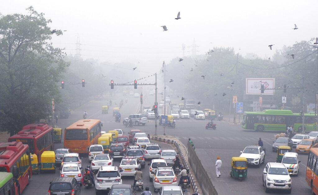 印度空氣污染達到危險程度。AP圖片