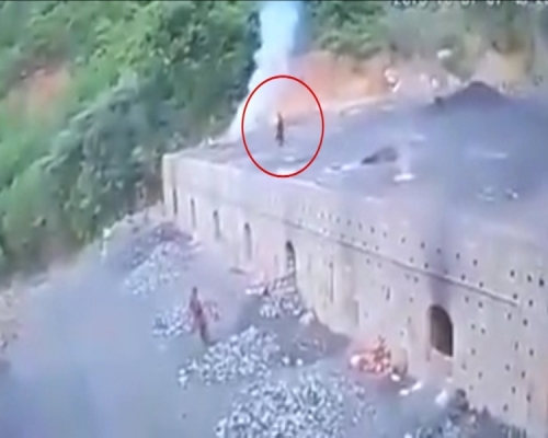 男子誤墜「1200度」煤炭爐內 瞬間被燒成白骨化為黑煙