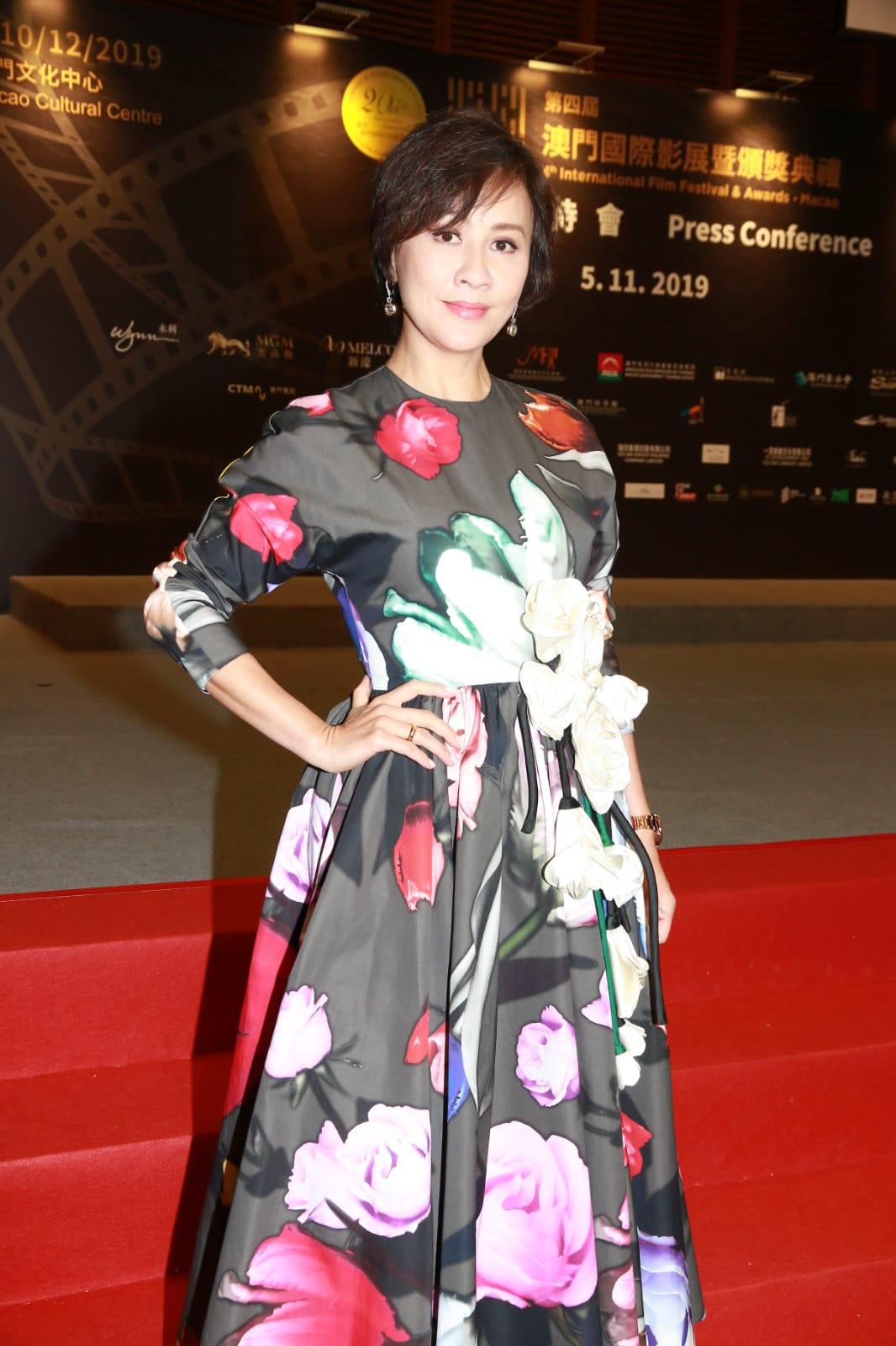 劉嘉玲出席澳門國際影展暨頒獎禮。