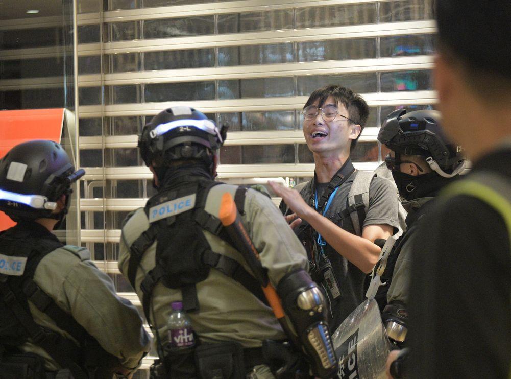 鄧澤旻早前在太古城中心採訪期間被捕。資料圖片
