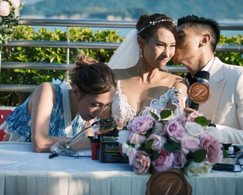 【皆大歡喜】《東張西望》李旻芳性感出嫁 忍痛紋婚戒