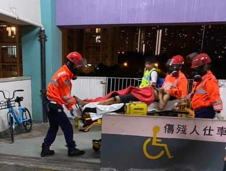 傷者被送往醫院救治。資料圖片