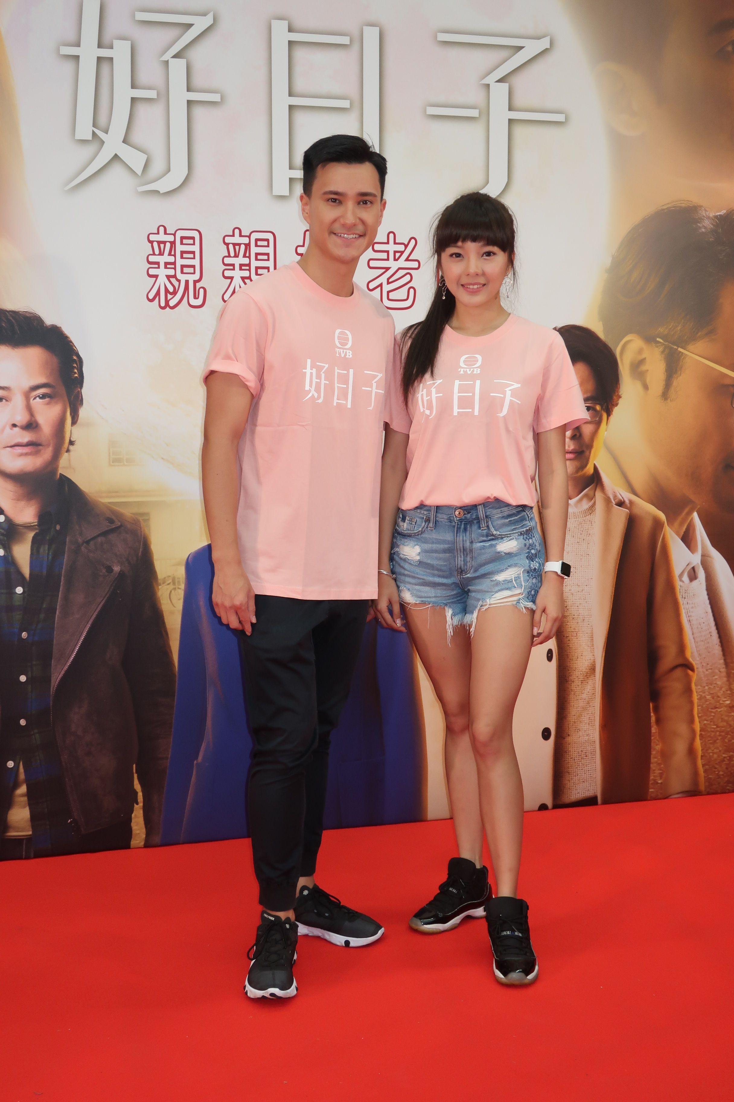 思霆跟朱敏瀚合作《好日子》演表姐弟,因而撻着。