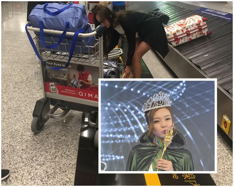 一個女仔搬咁多行李,難怪身邊位男旅客都望望思霆。