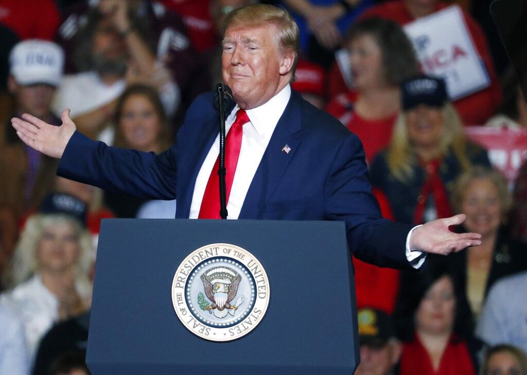 特朗普連任受挑戰。AP圖片