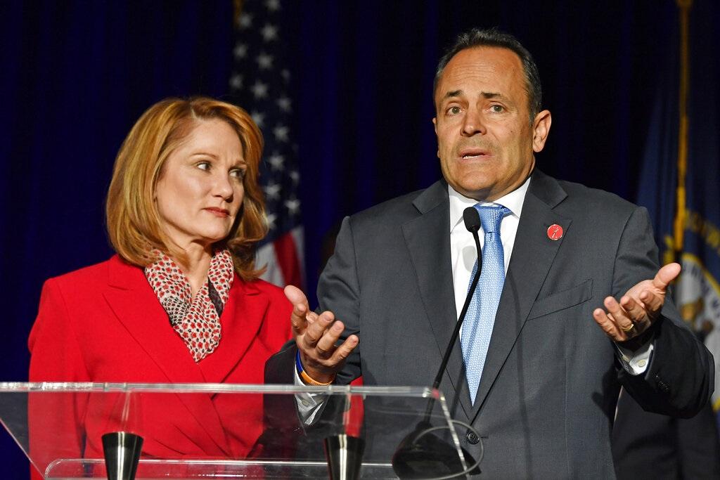 共和黨原任州長貝文(Matt Bevin)連任失敗。AP圖片