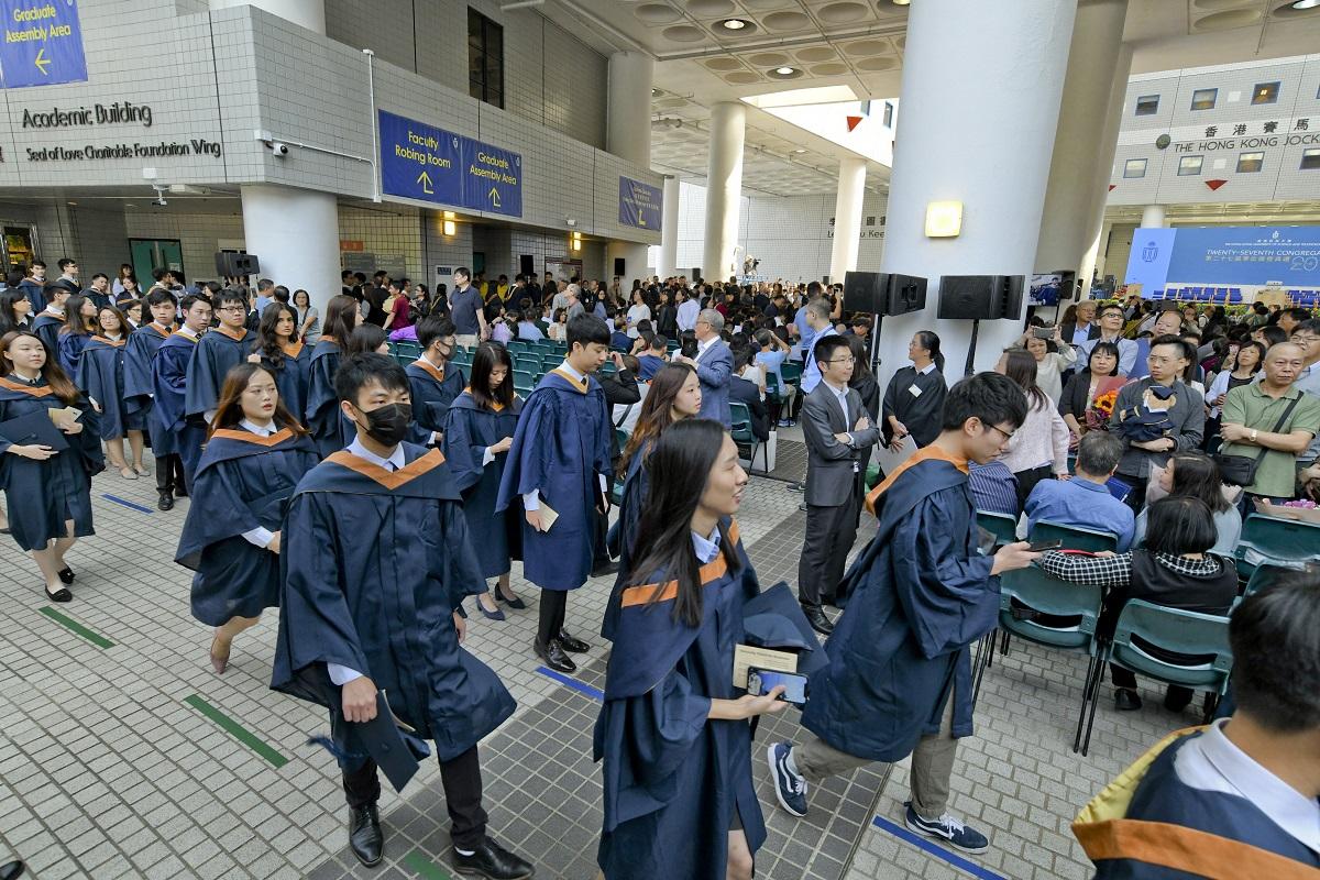 科大畢業禮整日都有學生抗議行動。