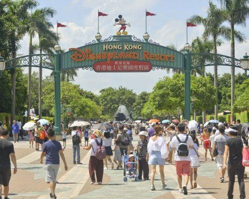 香港迪士尼樂園的入場人數及酒店入住率下跌。資料圖片