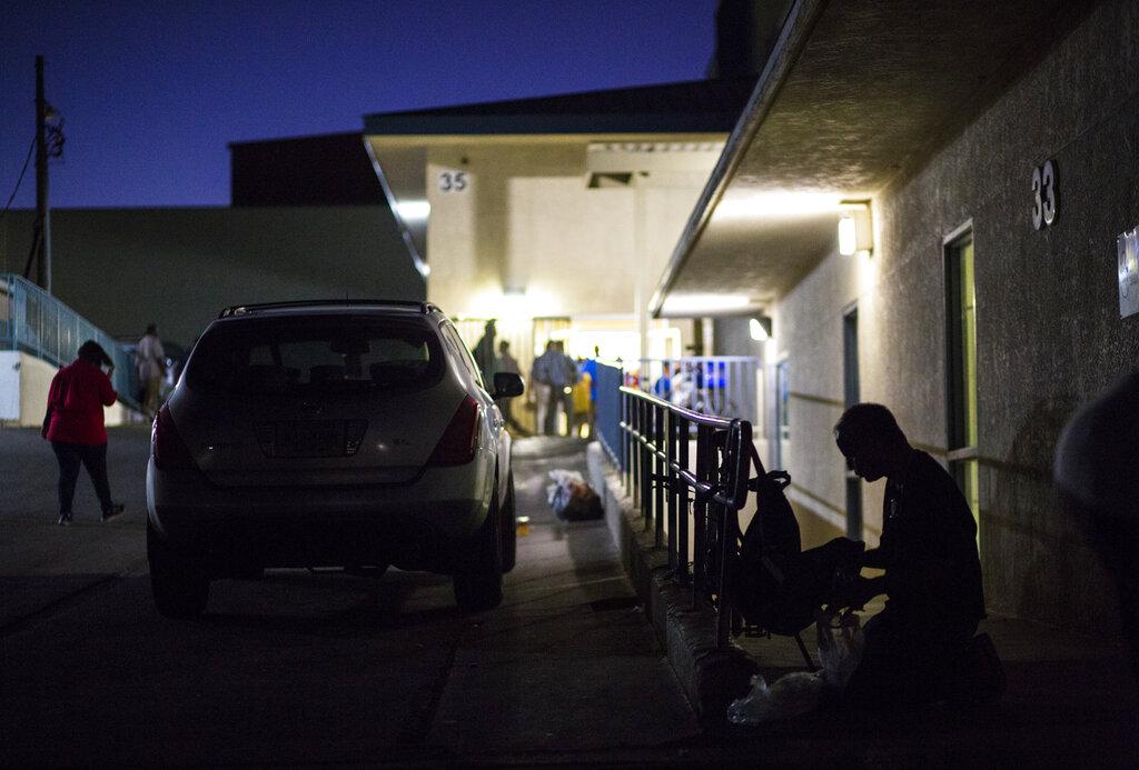 拉斯維加斯禁露宿瞓街。AP