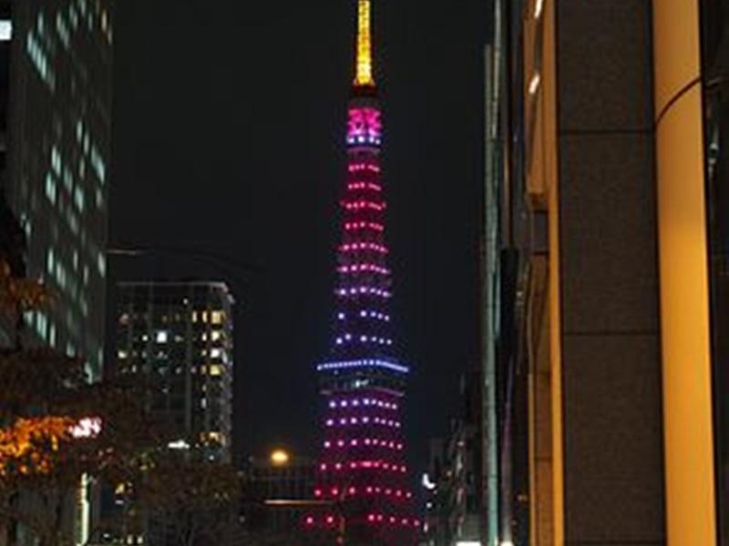 東京鐵塔「無限鑽石面紗」的令和新點燈。網圖