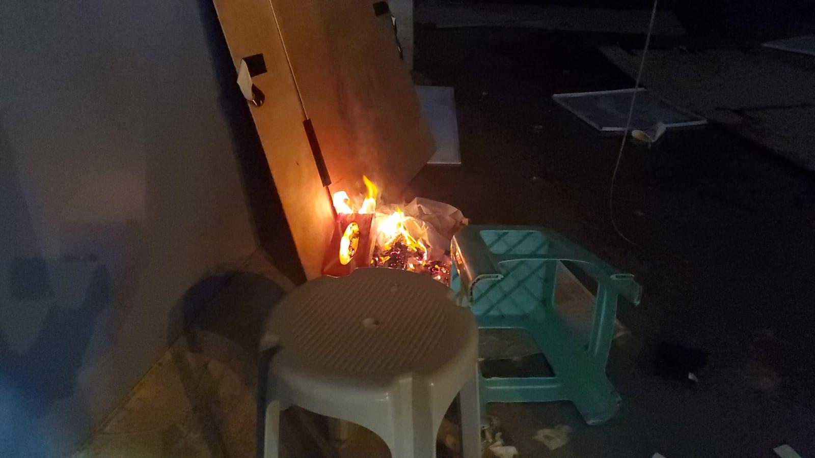 優品360分店亦被人縱火。