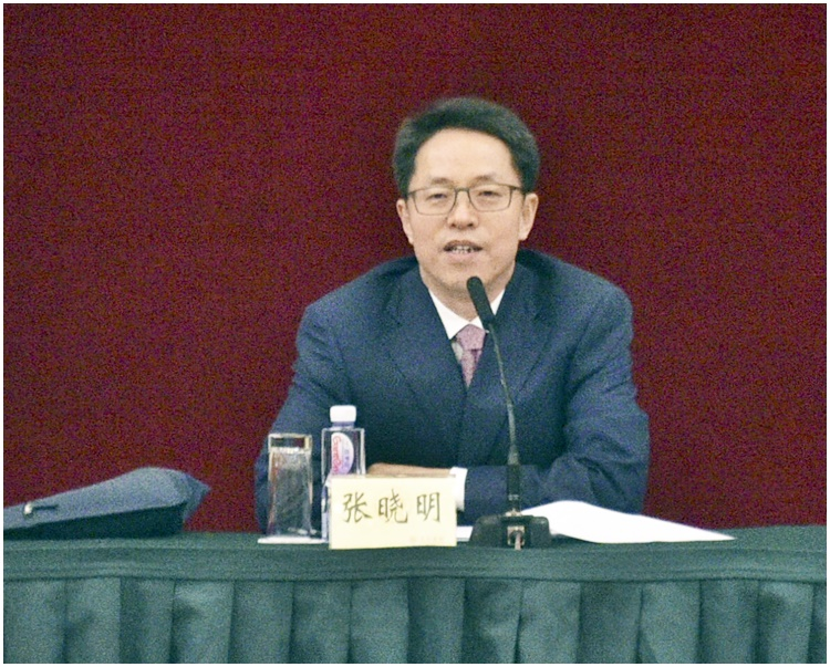 張曉明指香港尚未完成基本法第23條立法,也未設立相應執行機構。資料圖片