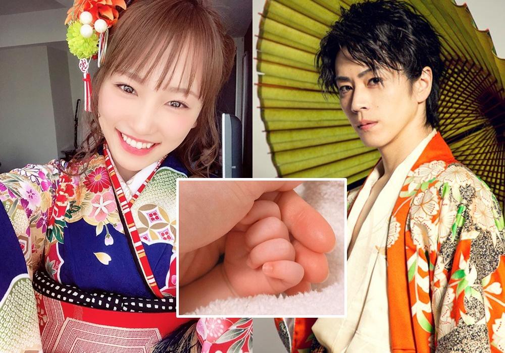 川榮李奈為老公誕下他們第一個BB。