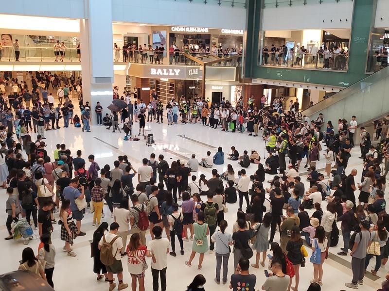市民曾多次在沙田新城市集會。資料圖片