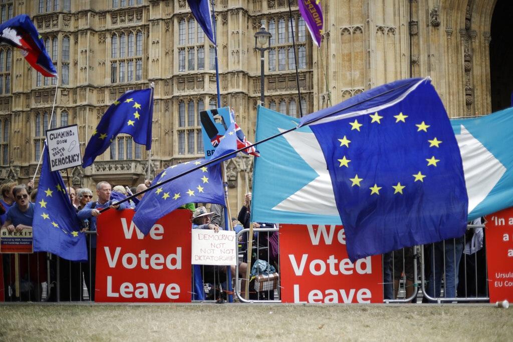 英國仍然無法脫歐。AP圖片