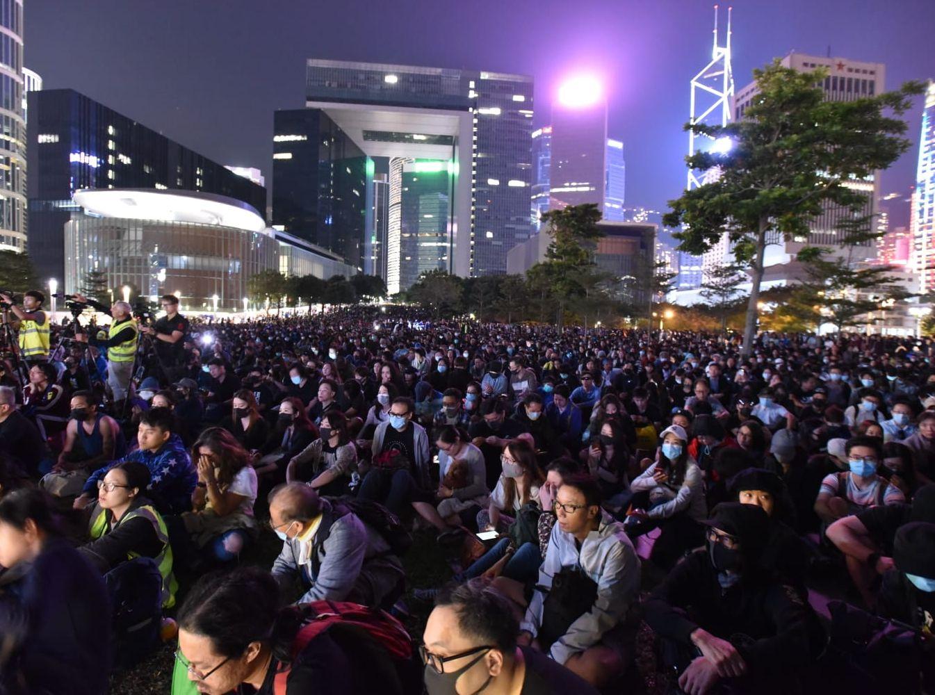金鐘添馬公園舉行集會