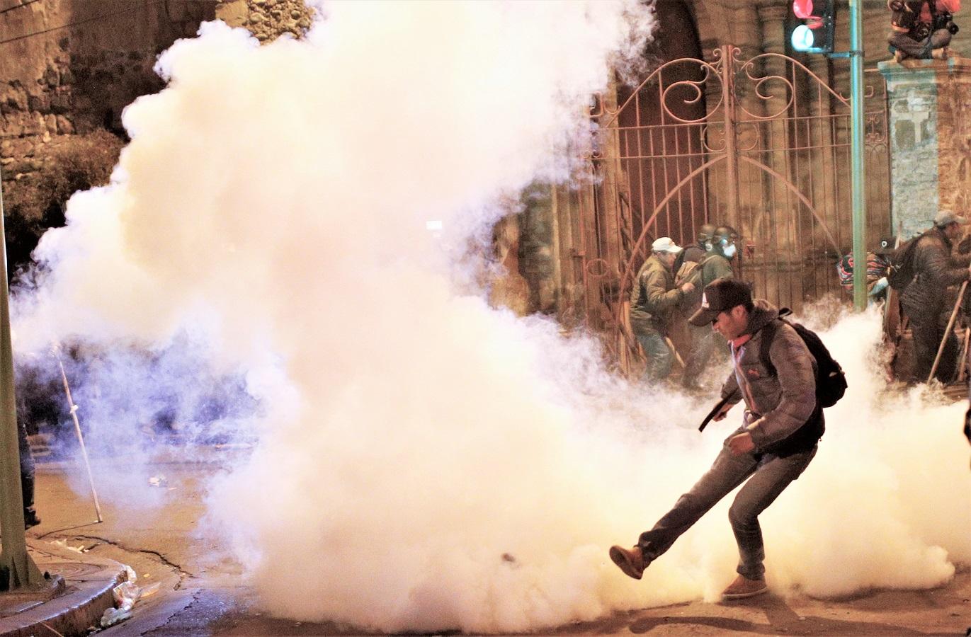 玻利維亞爆發反政府示威。AP