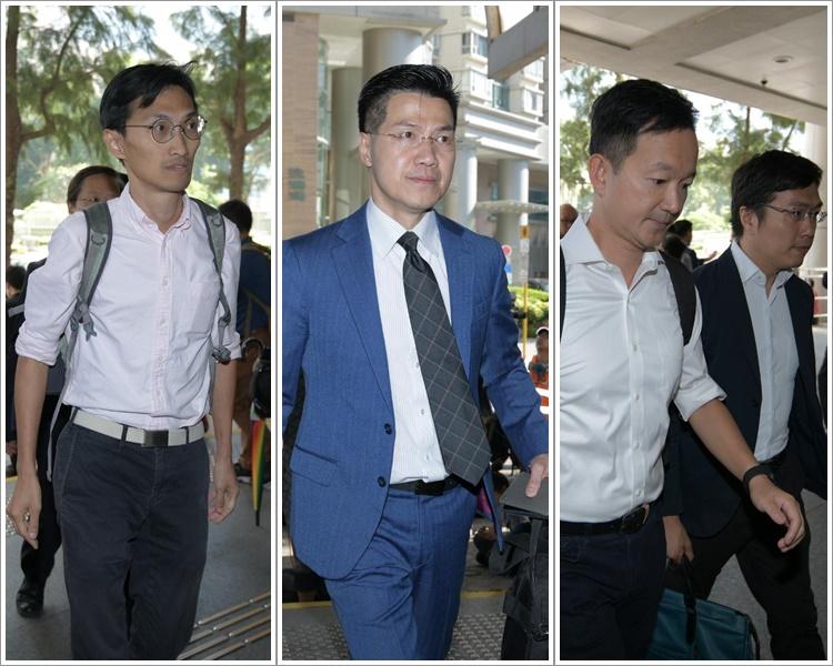 左起:朱凱迪、范國威、林卓廷、陳志全及區諾軒。