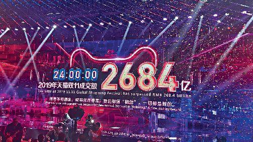 阿里巴巴「雙十一」全日銷售額最終達2684億元人民幣,較上年增25.7%。