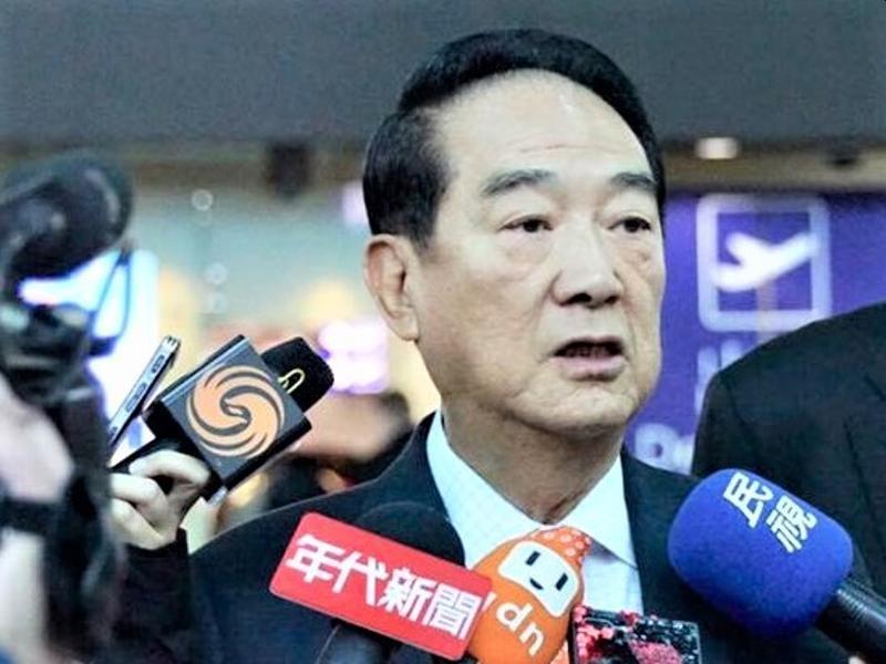 宋楚瑜據報明日(13日)宣布參選總統。(網圖)