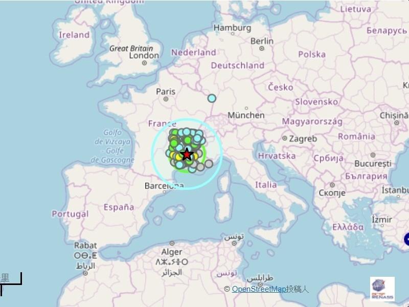 16年来最强烈 法国东南部5.4级地震致4人受伤