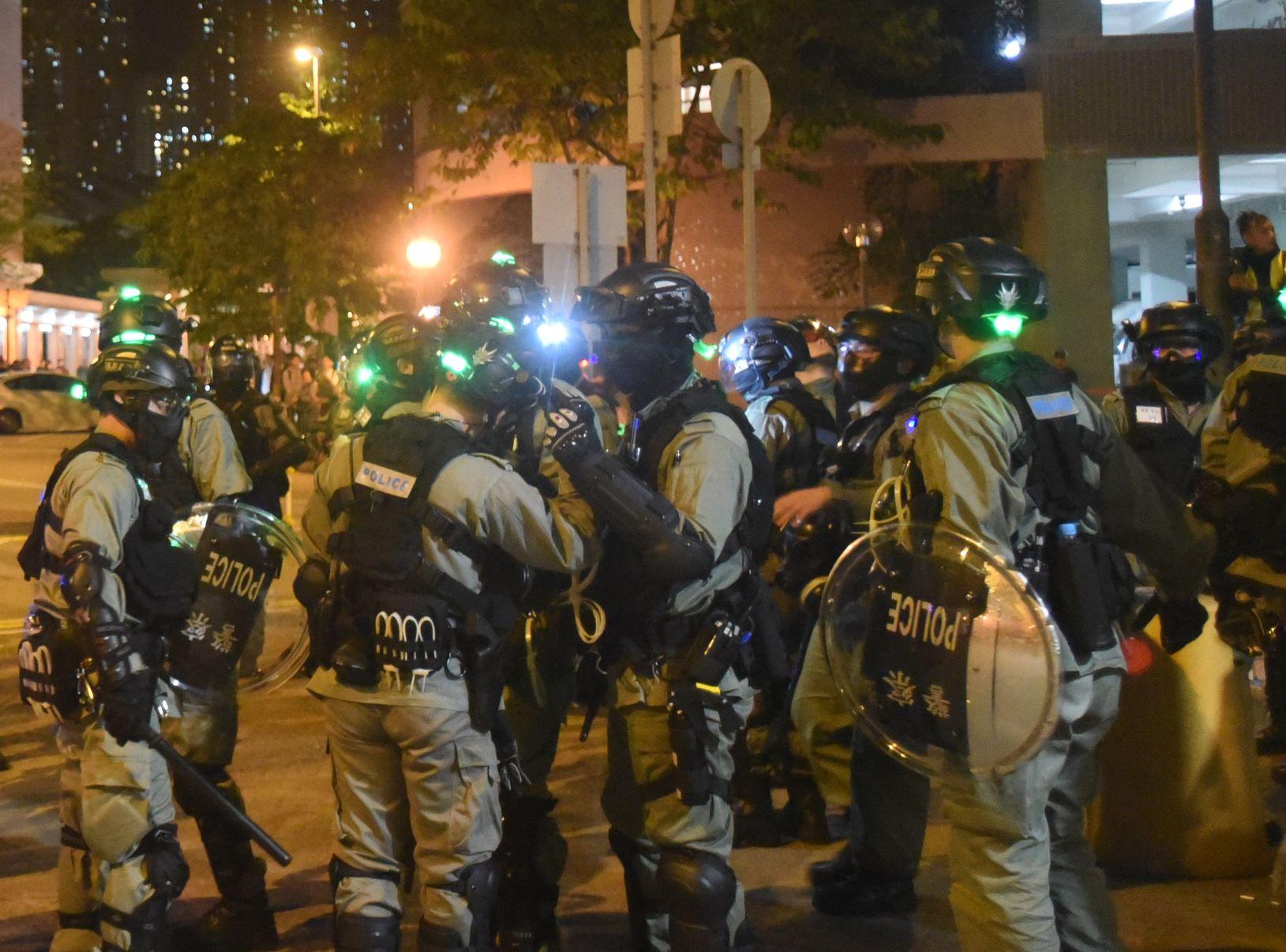 科大學生會譴責警方香檳言論。資料圖片