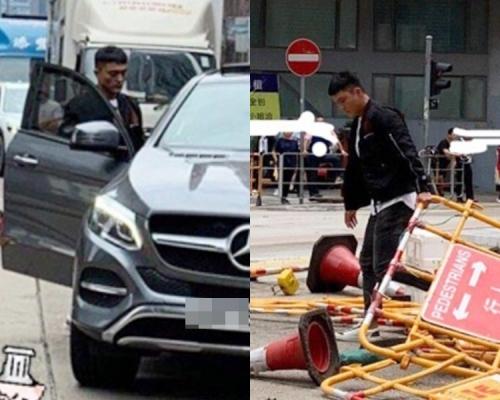 【Kelly Online】示威者觀塘堵路 藝人楊明落車清路障