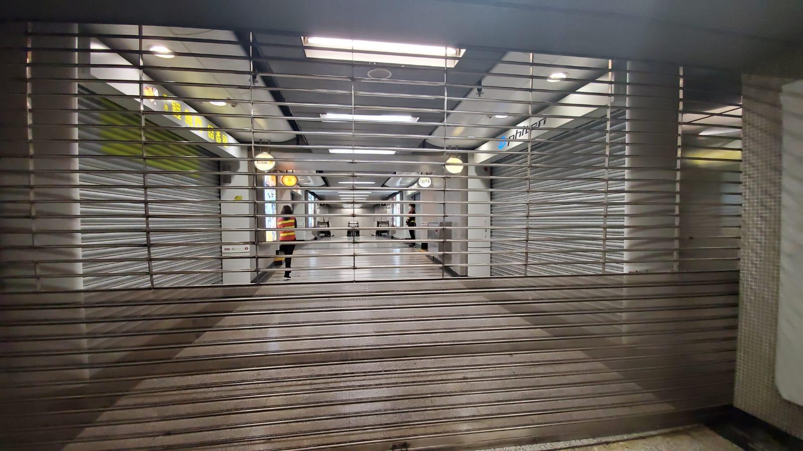 沙田站已經關閉。