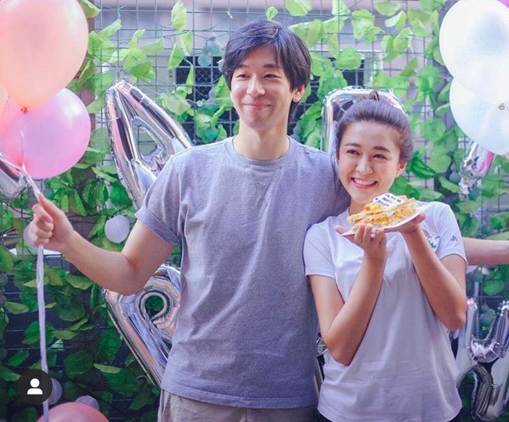 男友為江嘉敏慶祝25歲牛一。