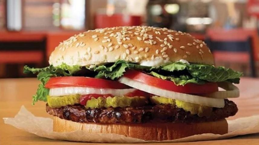 Burger King推出的素肉漢堡。網圖