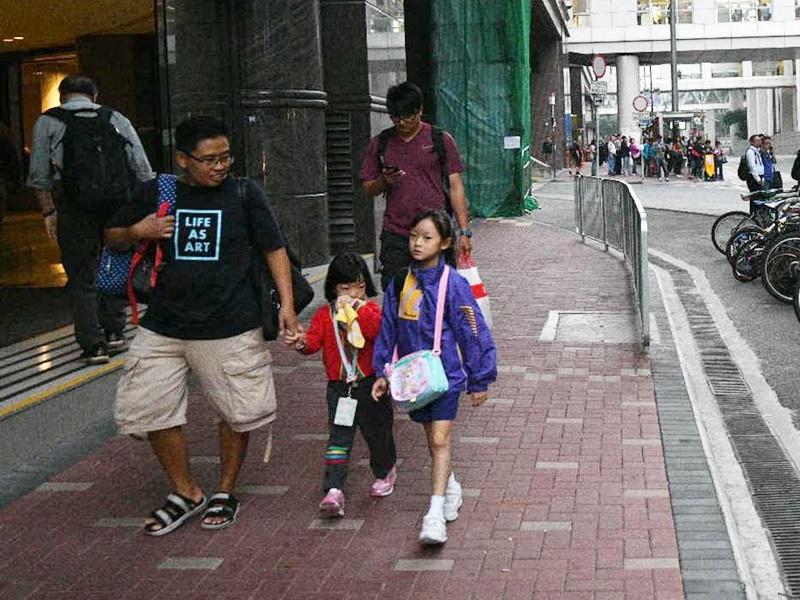 教育局宣布家長可視乎情況,決定子女是否上學。