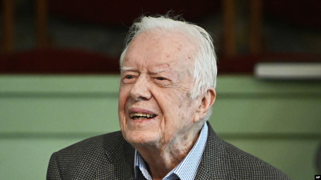 卡特現年95歲是迄今美國最長壽的總統。AP