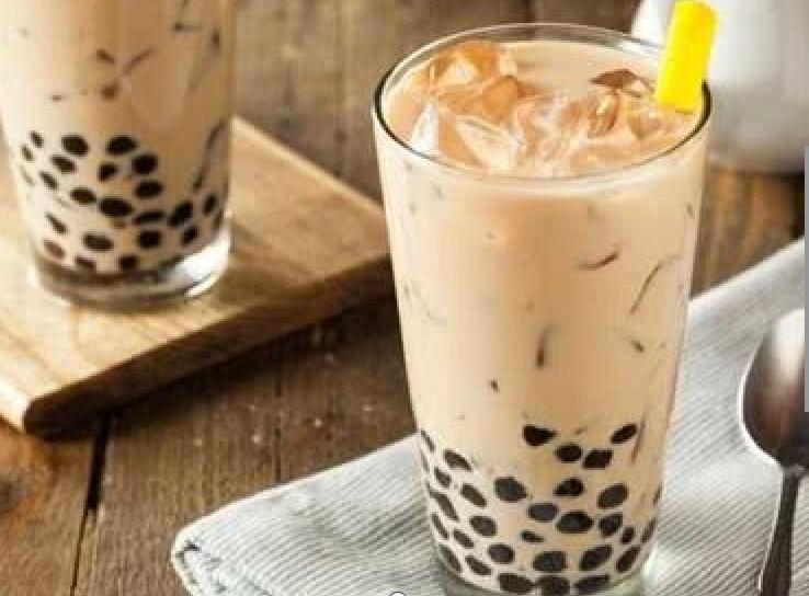 珍珠奶茶熱賣到日本。網圖