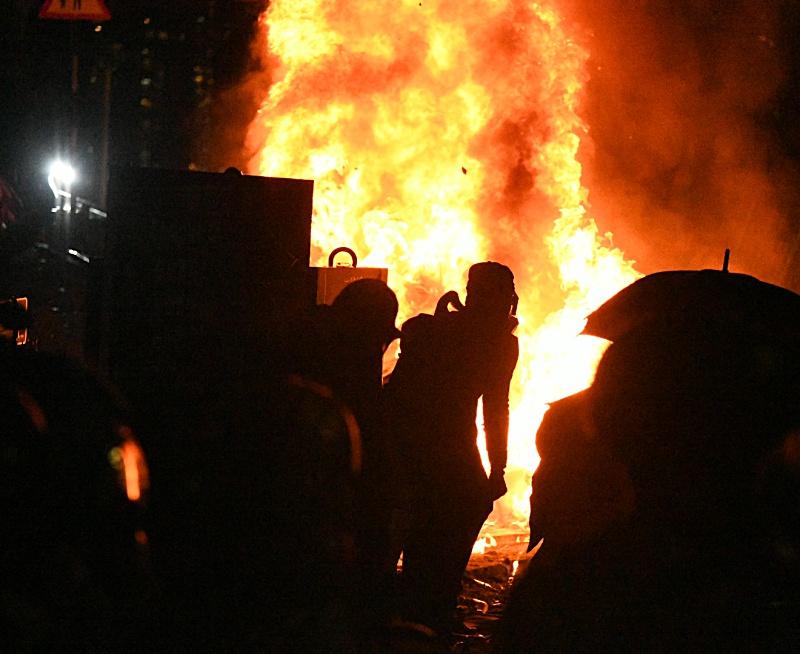 中大昨爆發激烈衝突。資料圖片
