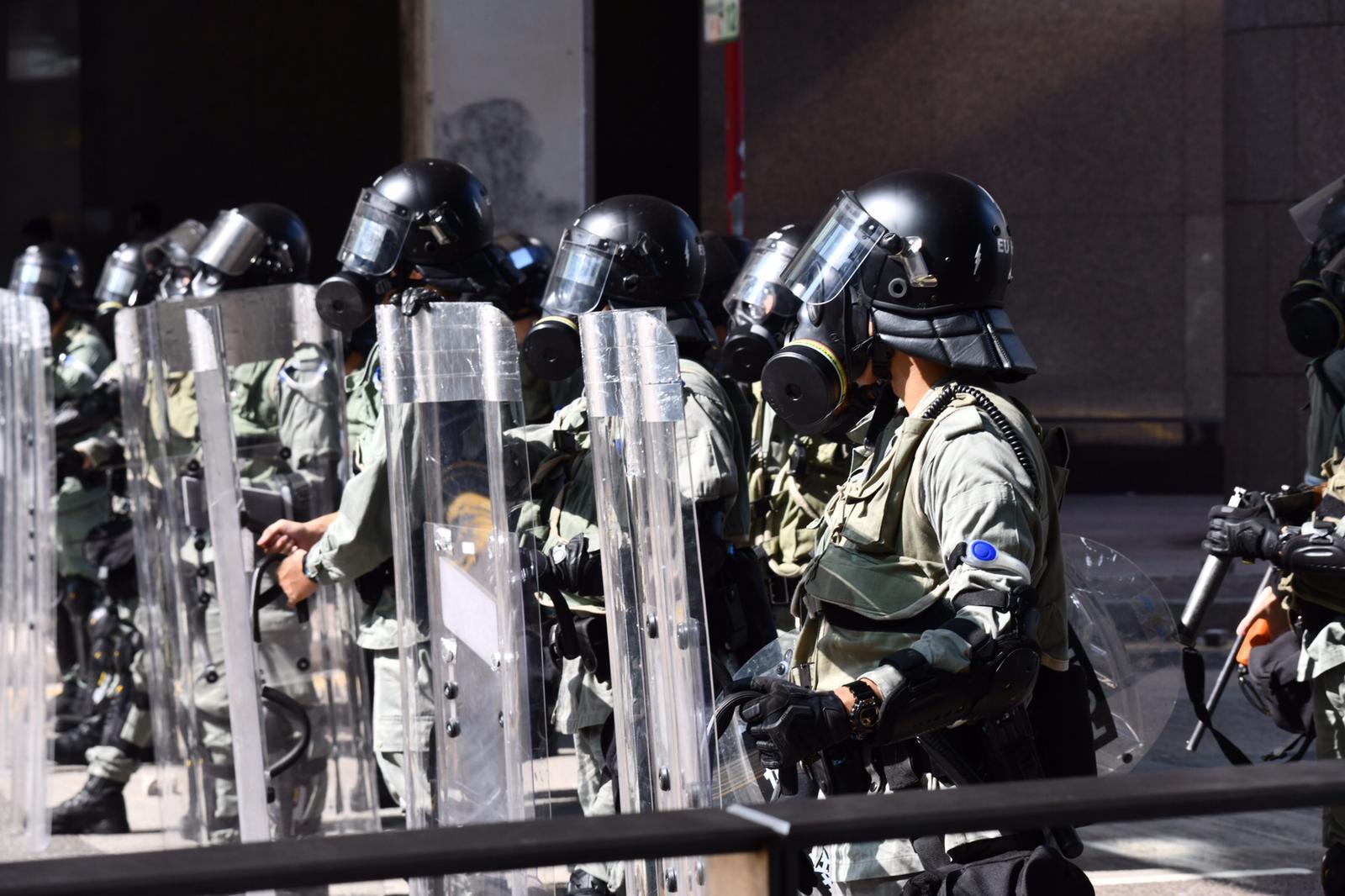 警方中環戒備。