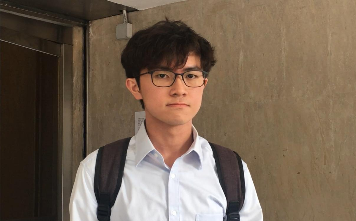 中文大學學生會會長蘇浚鋒。劉曉曦攝