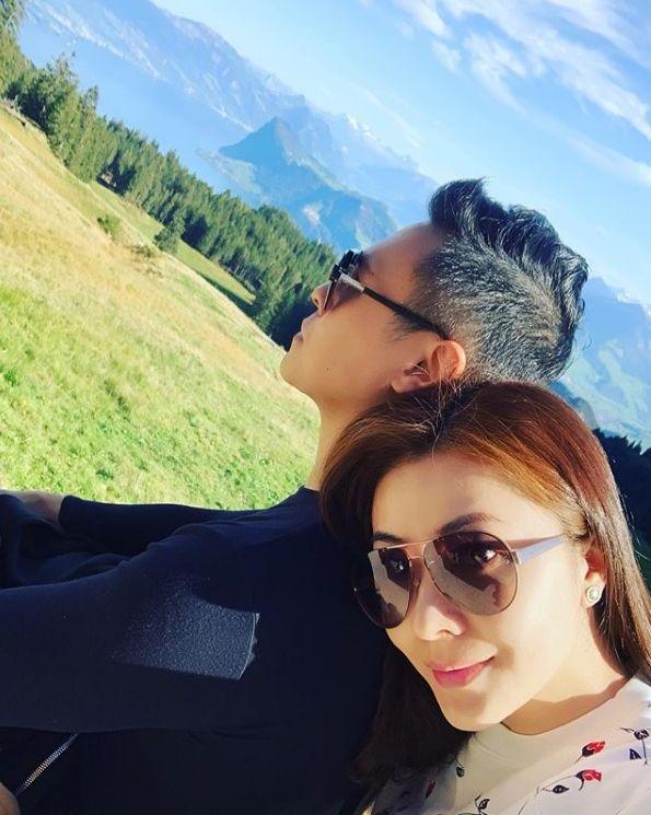 早前熊黛林與郭可頌遊瑞士慶祝結婚3周年。