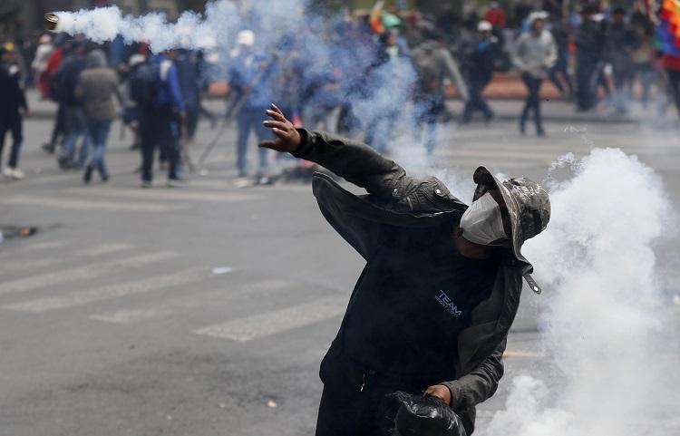 玻利維亞首都再爆衝突。AP圖