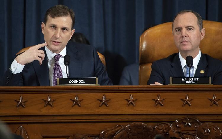 美國眾議院對總統特朗普彈劾調查首場公開聽證會展開。AP圖