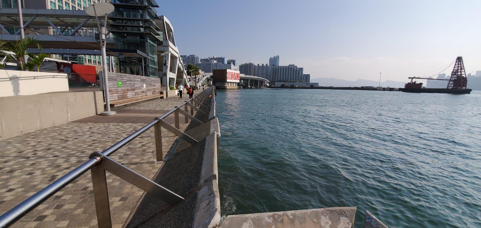 現場為麼地道72號海濱花園對出海面。
