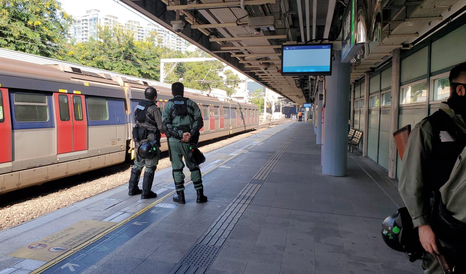 警方到九龍塘站調查。