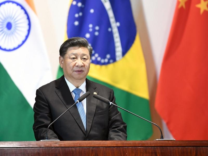 習近平:金磚國家應該倡導並踐行多邊主義。(新華社)