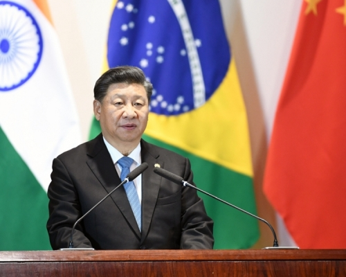 習近平指金磚國家須合作防範外部干預並踐行多邊主義