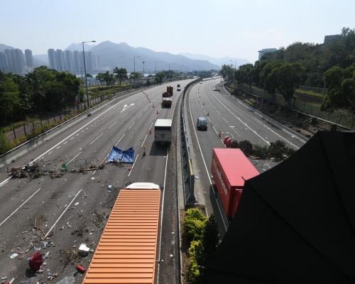 【大三罷】吐露港公路重開 行車時速限50公里