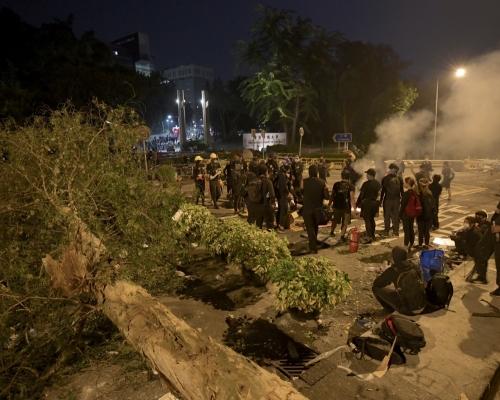 中大連日來有示威者留守。資料圖片