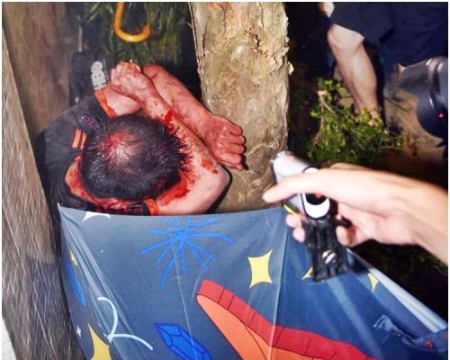 傷者當時被圍毆。資料圖片