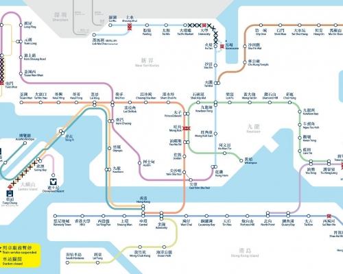 港鐵15車站今晚8時關閉 機場快線不停青衣站