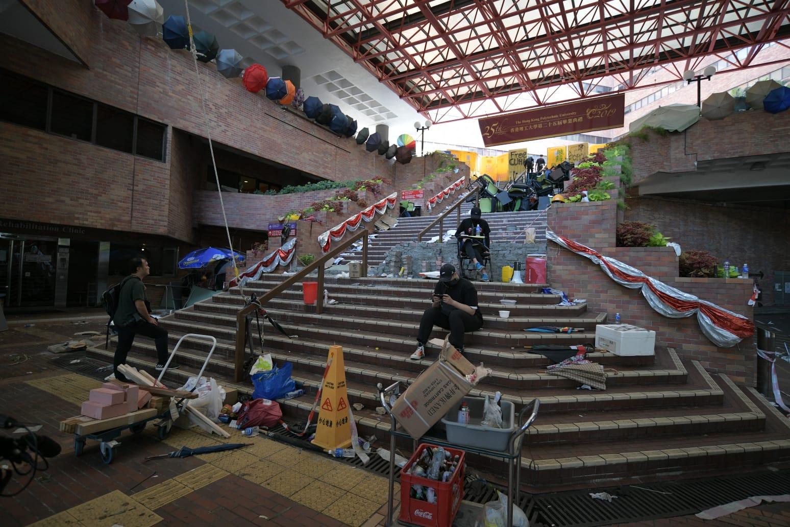 理工大學目前仍被學生佔領。