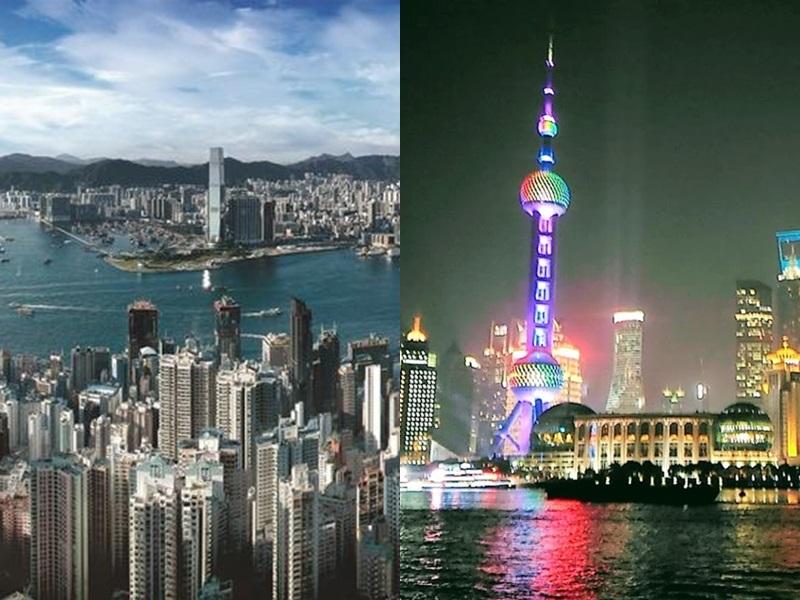 上海第10名、香港第13名。網圖