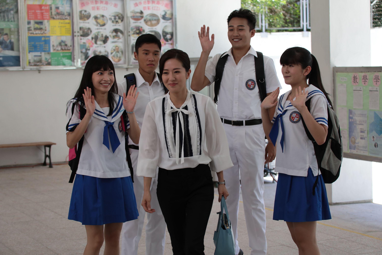 首次演老師的詩詠,戲裏戲外都被「學生」稱呼為「Miss Chan」,氣氛特別好。